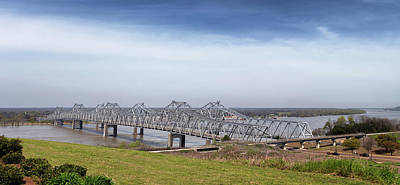 Photograph - The Natchez Vidalia Bridge by Susan Rissi Tregoning
