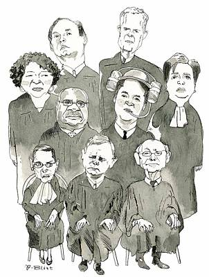 Drawing - The New Supreme Court by Barry Blitt
