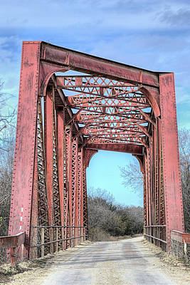 Photograph - The North Bosque River Bridge Hico Texas by JC Findley