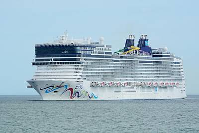 Photograph - The Norwegian Epic Returning From Sea by Bradford Martin