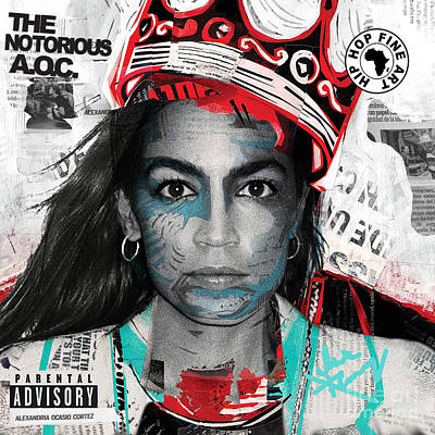 Digital Art - The Notorious Aoc by Isis Kenney