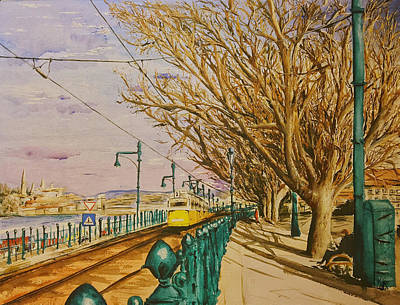 Painting - The Number 2 Along the Danube by Monika Arturi