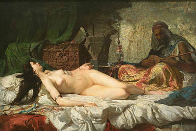 Painting - The Odalisque by Maria Fortuny