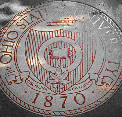 Soap Suds - The Ohio State University Seal Red by Aaron Geraud