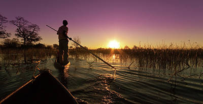 Oar Photograph - The Okavango Delta by Mb Photography