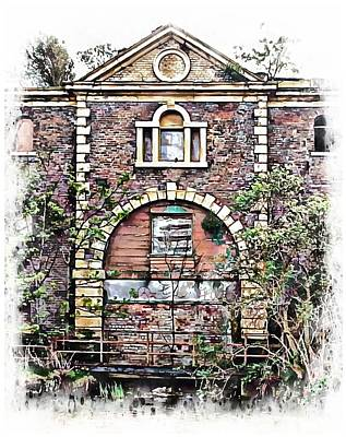 Photograph - The Old Abandoned Gatehouse by Dorothy Berry-Lound