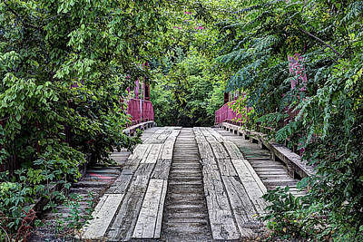 Photograph - The Old Alton Haunted Bridge by JC Findley