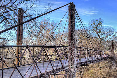 Photograph - The Old Bluff Dale Bridge by JC Findley