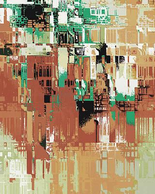 Digital Art - The Old City by David Hansen