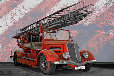 Royalty-Free and Rights-Managed Images - The Old Fire Truck by Joachim G Pinkawa