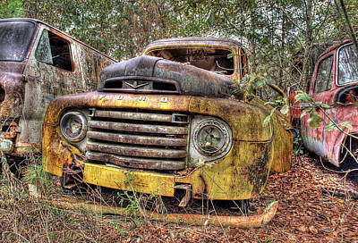 Photograph - The Old Ford Truck by Jeffrey PERKINS