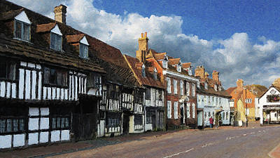 Digital Art - The Old High Street by Julian Perry