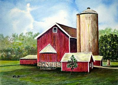 Painting - The Old Homestead by Thomas Kuchenbecker