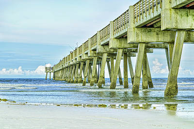 Photograph - The Old Jacksonville Beach Pier by Kay Brewer