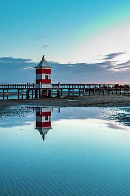 Thomas Kinkade - The old lighthouse. Reflexes. Lignano Sabbiadoro. Italy by Nicola Simeoni