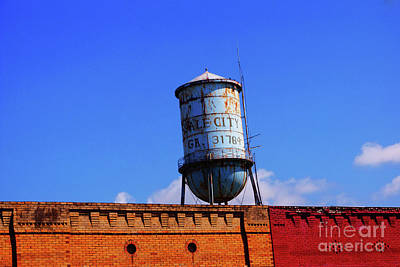Digital Art - The Old Sale City Georgia Water Tower  by Kim Pate