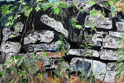 Painting - The Old Stone Wall by Sandy McIntire