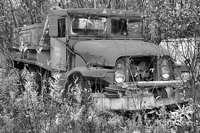 Photograph - The Old Water Tanker Black And White by Adam Jewell