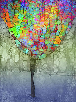 Digital Art - The Optimist- This Glass Is Full by Tara Turner