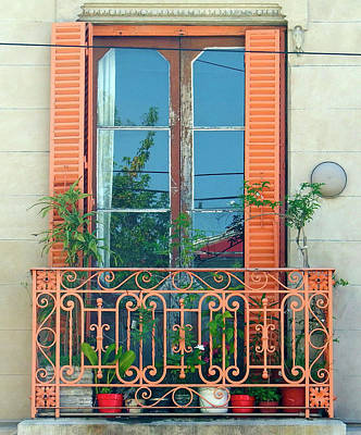 Photograph - The Orange Balcony Window,  Buenos Aires by Kurt Van Wagner