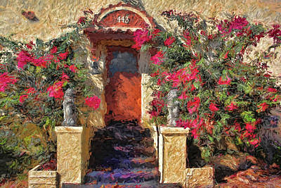 Photograph - The Orange Door by HH Photography of Florida