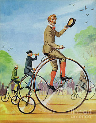 Painting - The Ordinary Of Penny Farthing by Angus McBride