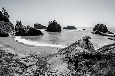 Photograph - The Oregon Coast In Black And White by Margaret Pitcher