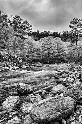 Photograph - The Ouachita River Black And White by Kyle Findley