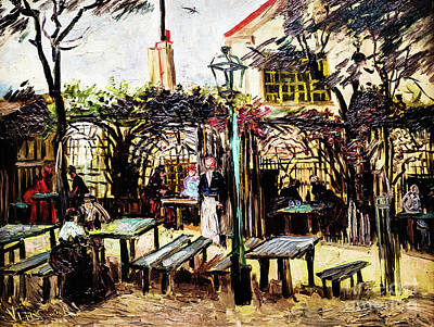 Painting - The Outdoor Cafe At Montmartre by Vincent Van Gogh