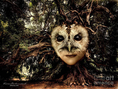 Photograph - The Owl Tree by Kira Bodensted