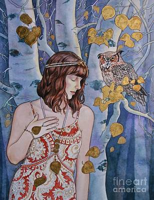 Painting - The Owl's Secret by Victoria Lisi