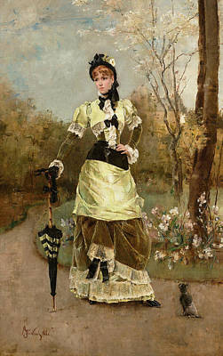 Painting - The Parisian by Alfred Stevens