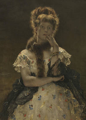Painting - The Parisian Sphinx by Alfred Stevens