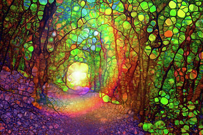 Digital Art - The Path At The End Of The Forest That Brings Us Home by Tara Turner