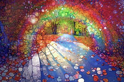 Digital Art - The Path Of Shadows And Rainbows by Tara Turner