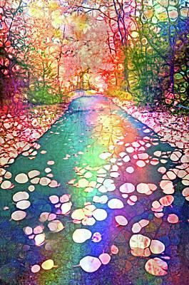 Digital Art - The Path Where Rainbows Meet by Tara Turner