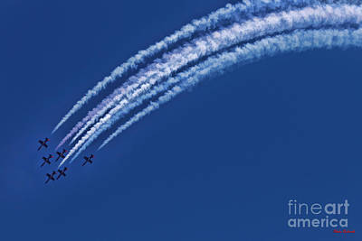 Photograph - The Patriots Jet Team Going Down by Blake Richards