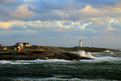 Photograph - The Peggy's Cove Seascape by Gary Corbett