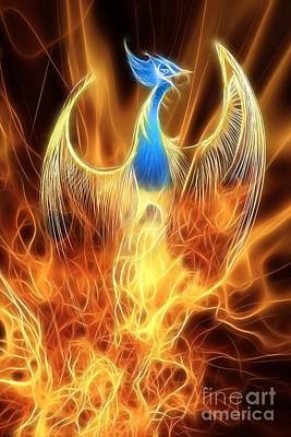 The Phoenix Rises From The Ashes Art Print