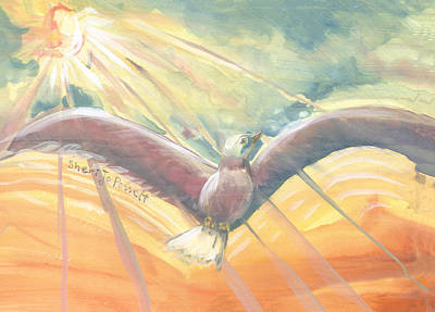 Painting - The Phoenix by Sheri Jo Posselt
