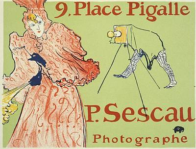 Comedian Drawings Rights Managed Images - The Photagrapher Sescau - 1894 - PC 1 Royalty-Free Image by Henri de Toulouse-Lautrec