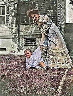 Jolly Old Saint Nick - The photographer s younger sister, Bunella Pansy Jones, with her daughter, Barbara, taken in 1907  by Ahmet Asar