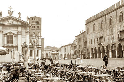 Photograph - The Piazza Sordello by W Chris Fooshee