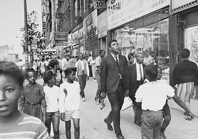 Walking Photograph - The Pied Piper Of Harlem, Cassius Clay by New York Daily News Archive