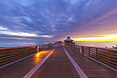 Photograph - The Pier On Juno Beach At Sunrise by Debra and Dave Vanderlaan
