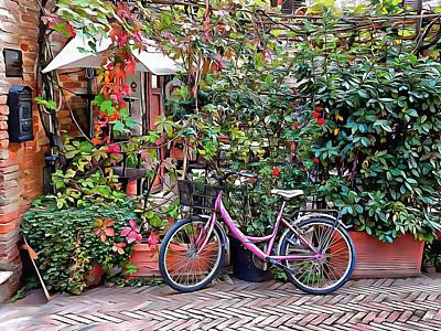 Photograph - The Pink Bicycle by Dorothy Berry-Lound