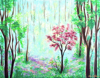 Painting - The Pink Flower Tree by Gina De Gorna