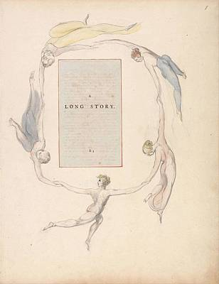 Painting - The Poems Of Thomas Gray  Design 23   A Long Story   William Blake by Celestial Images