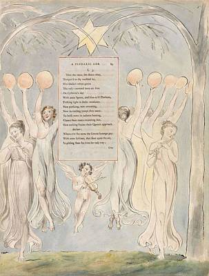 Painting - The Poems Of Thomas Gray Design 45 The Progress Of Poesy  William Blake by Celestial Images