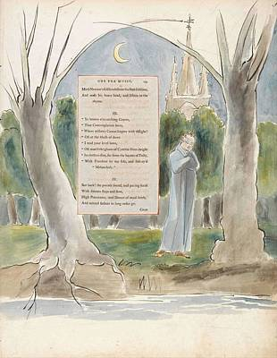 Painting - The Poems Of Thomas Gray Design 97 Ode For Music  William Blake by Celestial Images